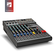 YUEPU RU-8T Pro Sound Audio Mixer Professional 8 Channel 48V Phantom Power Reverbration Mixing Console Player USB DSP FX Effects yuepu ru 8ts professional sound audio mixer 8 channel 48v phantom power reverbration mixing console player usb music for dj