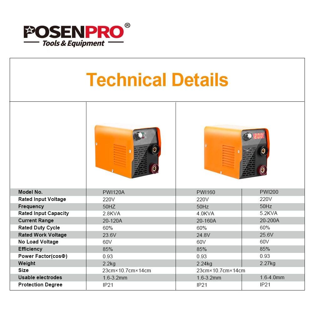 POSENPRO Schweißen Maschine 5.2KVA Serie DC Inverter ARC Elektrische Schweißer für Schweiß Arbeiten für Löten Arbeit Schweißen Ausrüstung