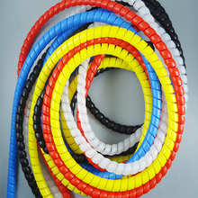 2M 8mm 10mm 12mm 14mm 16mm New Spiral Wrap Sleeving Tube Flame Retardant Cable Protective Sleeve Band Winding Pipe Wire Sleeves