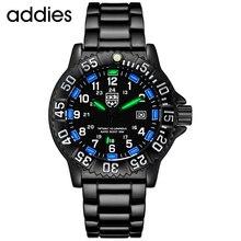 Addies Mannen Militaire Horloges Top Merk Fahsion Casual Sport Waterdichte Outdoor Siliconen Quartz Horloge Heren Horloge