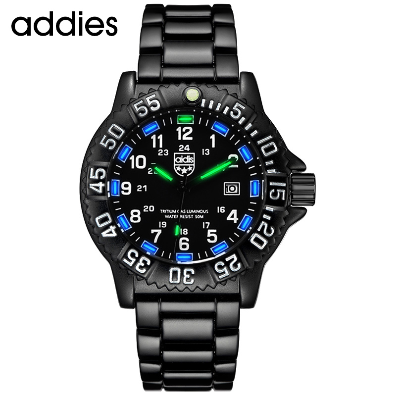 Addies Men Military Watches Top Brand Fahsion Casual Sports Waterproof Outdoor Silicone Quartz Watch Men's Watch