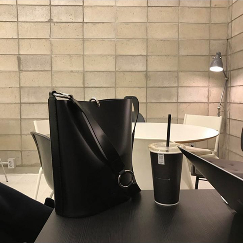 Casual Simply Large Buckets Bag Designer Square Women Handbags Luxury Pu Leather Shoulder Crossbody Bags Female Tote Purse 2020