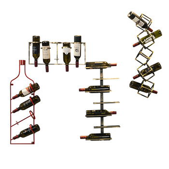 Nordic Ins Iron Wall Hanging Wine Rack Wine Cabinet Racks Simple Commercial Bar Wine Wall Decoration Wine Bottle Holder