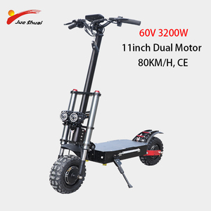 Powerful 60V3200W Electric Scooter 11inch Off Road Fat tire Dual Motor Wheel e scooter Foldable Long Hoverboard Adults Scooters
