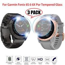 9H zegarek ochronny dla Garmin Fenix 5 5S Plus 6S 6X6 Pro ultra przejrzysty szkło hartowane folia ochronna folia zabezpieczająca ekran 3 szt.