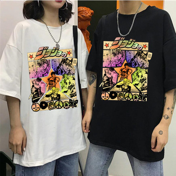 2020 Harajuku JOJO's Bizarre Adventure Unisex T Shirt Japan Anime Summer Top Jojo Graphic Tshirt Plus Size Cartoon Female