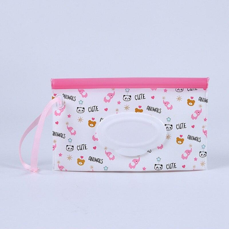 Детские влажные салфетки, заполняемый бумагой мешок, экологичные детские салфетки, сумка для путешествий, портативный мешок для бумажных полотенец, практичный Домашний Уход за ребенком - Цвет: Style 5