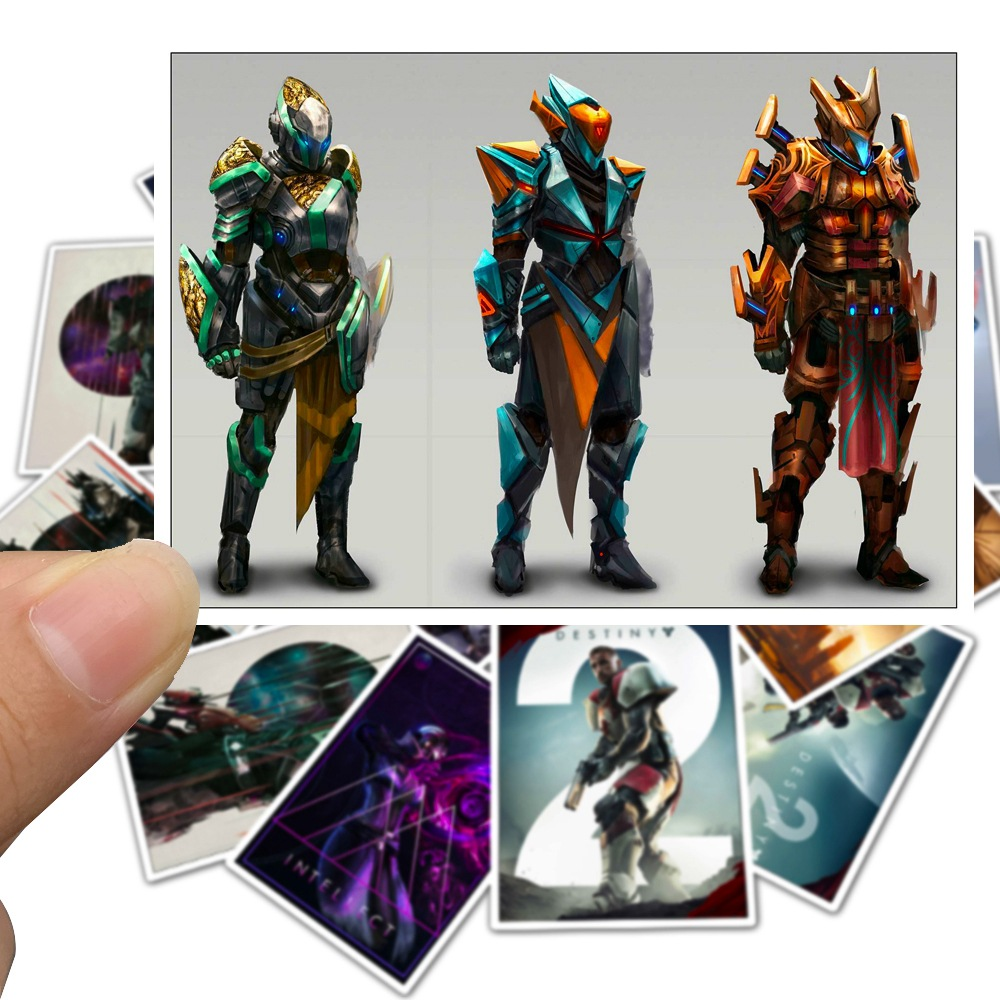 25Pcs Game Destiny 2 Toy Stickers for Laptop Car Styling Phone Bicycles Luggage Motorcycle PVC Waterproof Sticker
