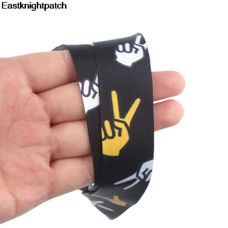 Moda makas el etiketleri askı boyun boyunluklar için tuşları kimlik kartı geçiş spor cep telefonu USB rozeti tutucu DIY asın halat E0872
