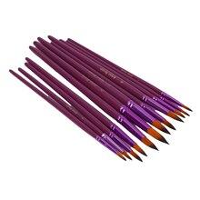 12 teile/satz Nylon Haar Flache Spitze Künstler Pinsel Pen-Set Ölgemälde Zeichnung Malerei Stift Für Aquarell Pinsel