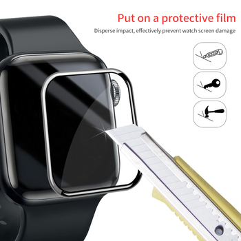 Screen Protector Clear Full Coverage Protective Film for iWatch 4 5 40MM 44MM Not Tempered Glass for Apple Watch 3 2 1 38MM 42MM tempered glass 3d full coverage protector for apple watch 4 curved screen edge protective film for iwatch series 40mm 44mm