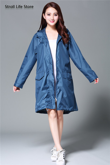 Japan Raincoat Adult Rain Poncho Korea Girls Long Rain Coat Ladies Waterproof Suit Windbreaker Women Gabardina Mujer Gift Ideas 4