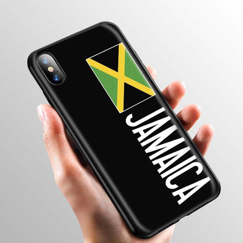 Yimaoc jamaica bandeira jamaicana silicone macio caso para iphone 11 pro xs max xr x 8 7 6 s plus 5 5S se