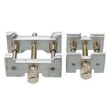 Suporte fixo de metal para relógio 2 pçs/set, suporte de movimento, multifunção para relógios, relógios, braçadeira, ferramentas de reparo, acessórios