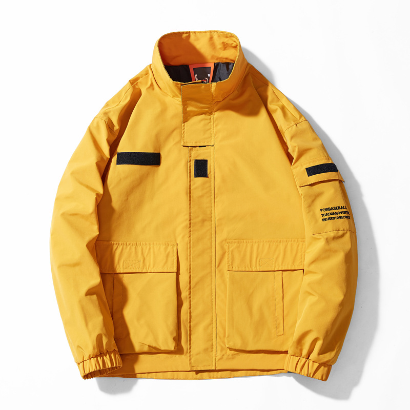 Новая повседневная мужская куртка с капюшоном, оригинальный бренд Tace & Shark jaqueta masculina, стоячий воротник, Японская уличная одежда, куртка в стиле хип хоп