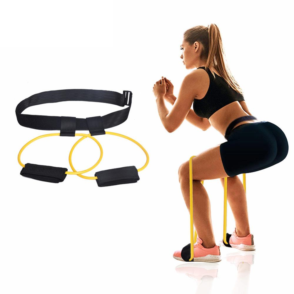 Resistance Bands Fitness Workout Booty Belt Puller Leg-Pedal Stretcher Hip Training Belt Pedal Pull Rope Gym Exercise Equipment
