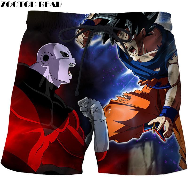 Dragon Ball 3D Print Summer Travel Beach Shorts Men Casual Board Shorts Plage Quick Shorts Swimwear DropShip ZOOTOP BEAR New