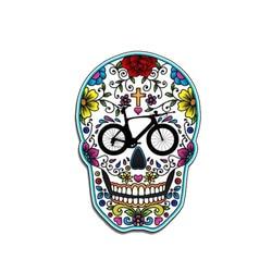Hot Triathlon Sugar Skull Reflective Car Sticker Motorcycle Bumper Rear S Exterior Accessories PVC13*9cm