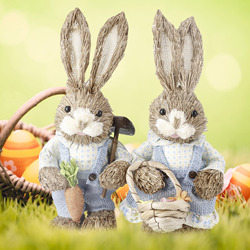 Easter Decoration Diy Straw Decor Easter Gift Rabbit Easter Bunny Decoration Party Decorations Easter Decorations For Home