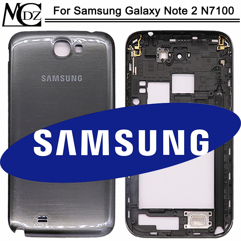 New N7100 Battery Cover For Samsung Galaxy Note 2 N7100 GT-N7100 Full Housing Mid Bezel Back Door+Middle Frame
