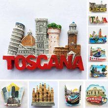 Aimants de réfrigérateur Milan d'italie, étiquettes de réfrigérateur magnétiques, Souvenirs touristiques, cadeau
