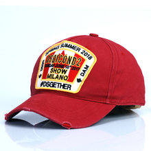 red DSQICOND2 New High Quality Brand Baseball Cap for Men Women Summer ICON Snapback Cap Casual Outdoor Cotton DSQ Dad Hat Casqu(China)