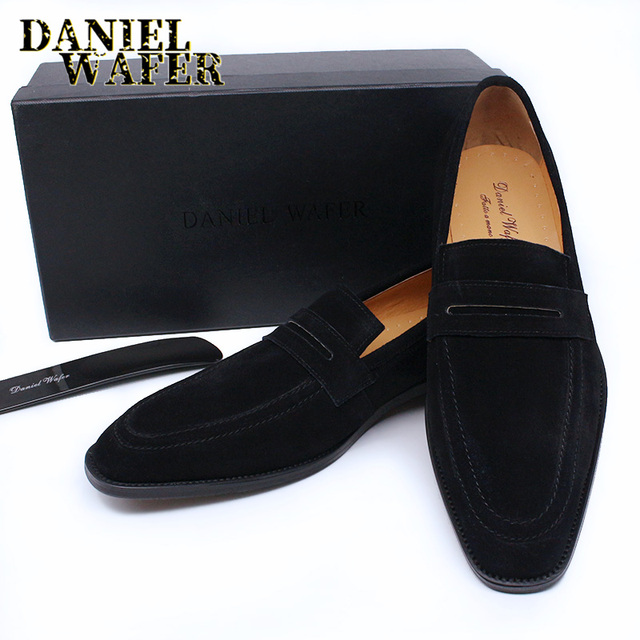 LUXURY MEN'S LOAFERS SUEDE LEATHER SLIP ON