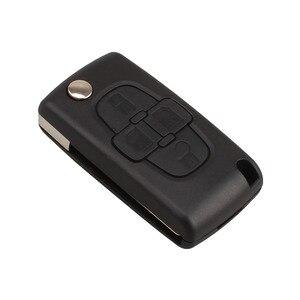 Image 1 - Araba yedek anahtar kabuk 4 düğme çevirme katlanır uzaktan anahtar kutu Fob kapak boş Blade için Peugeot 1007 Citroen C8