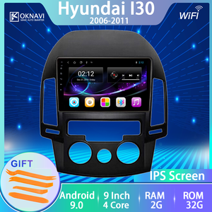 For Hyundai-h I30 Car Radio 2006 2007 2008 2009 2010 2011 Android 9.0 No 2 Din Player Multimedia Touch IPS Screen BT Navitel IGO