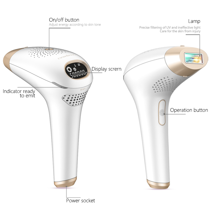 Image 3 - 2in1 Ipl Hair Removal Epilator Hair Removal Laser Epilator Lcd Display Machine Laser Permanent Bikini Trimmer Electric Depilador-in Epilators from Home Appliances