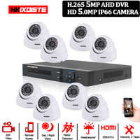 5 mégapixels 8CH AHD DVR H.265 Surveillance système de caméra de vidéosurveillance HD Kit DVR ensemble de caméras IP système de caméra de sécurité P2P APP visualisation