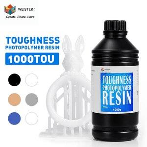 WEISTEK 405nm żywica UV do drukarki 3D wysoka wytrzymałość żywica materiał do drukowania LCD UV 1000 ml/butelka ciecz wysoka precyzja