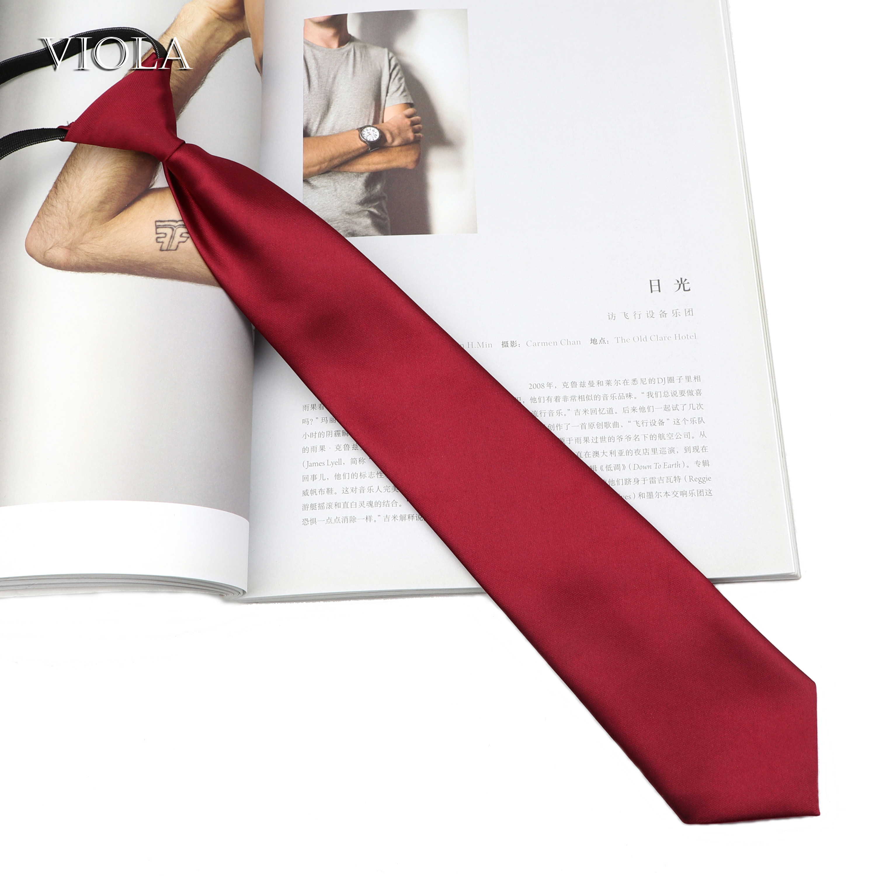 Wine Red Solid Colorful Necktie Men Women Ties Fashion High School Professional Uniform Student Waitress Staff Shirt Accessories(China)