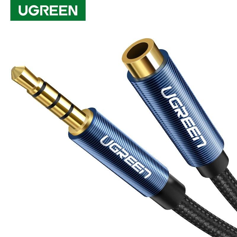 Ugreen Jack de Audio de 3,5mm Cable de extensión para Huawei P20 lite estéreo 3,5mm Jack Aux Cable para auriculares Xiaomi Redmi note 5 PC