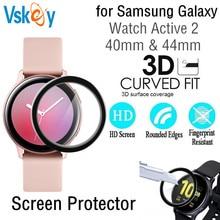 100PCS 3D หน้าจอ Protector สำหรับ Samsung Galaxy นาฬิกา Active 2 40 มม.44 มม.ป้องกันฟิล์ม (Tempered Glass)
