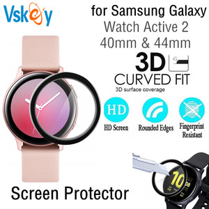 Image 1 - 100PCS 3D Soft Screen Protector for Samsung Galaxy Watch Active 2 40mm 44mm Full Cover Protective Film (No Tempered Glass)