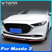 Vtear Für Mazda 3 BP 2020 Vorne Rock Stoßstange Änderung Carbon Fiber Körper Schutz Trim Außen Zubehör Fließheck Limousine