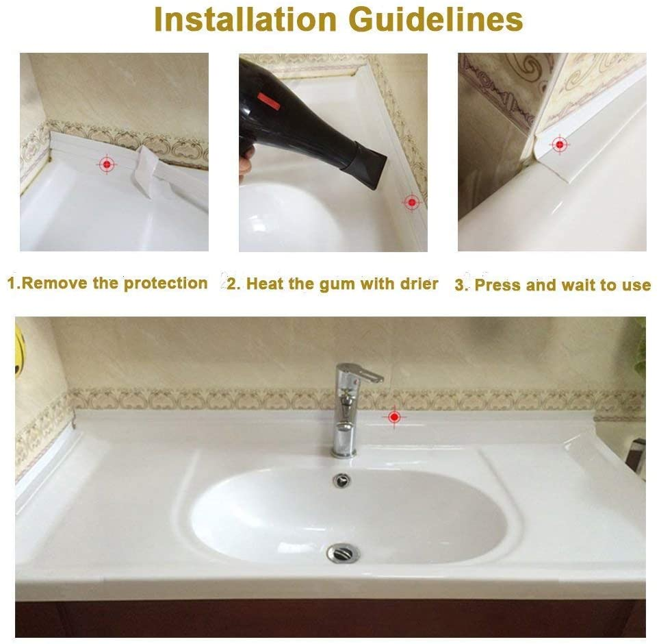 New Sealing Strip Bathroom Shower Sink Bath Caulk Tape White Pvc Self Adhesive Waterproof Wall Sticker For Bathroom Kitchen Sealing Strips Aliexpress