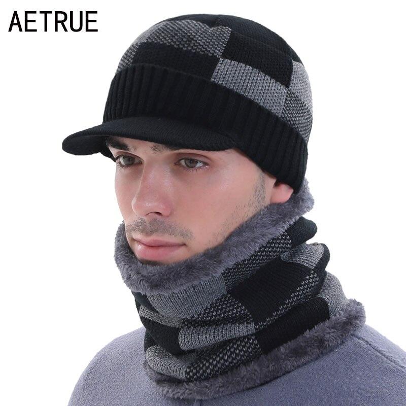 Beany Skullies Beanies Men's Winter Hats For Men Winter Cap Necks Women Knitted Hat Male Mask Gorro Bonnet Winter Beanie Hat Cap(China)