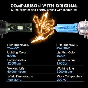 Image 3 - Cnsunnylight plug play h15 carro led farol lâmpadas canbus 12000lm 6000 k dia running luzes drls substituir para ford edge/explorer