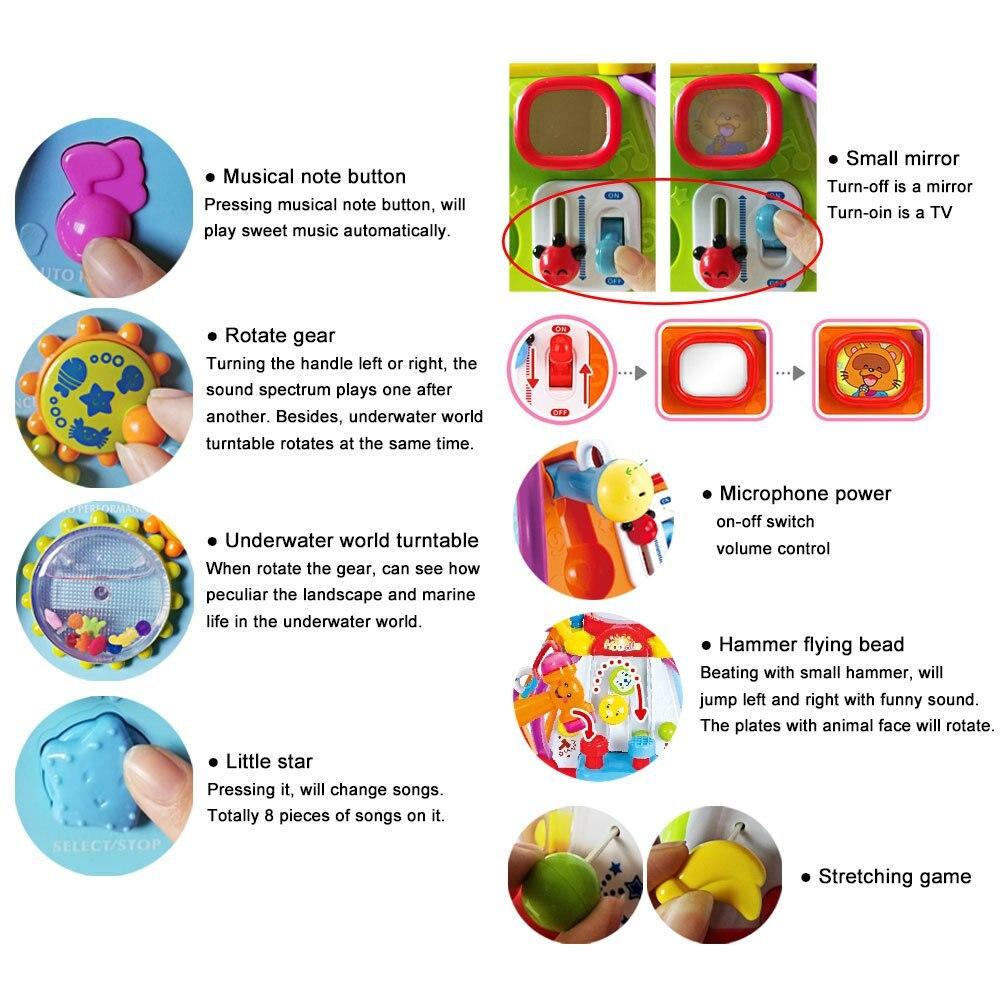 Jouet éducatif bébé enfant en bas âge jouet activité musicale Cube Play Center avec 15 fonctions et compétences d'apprentissage jouets éducatifs cadeaux - 6