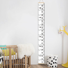 Wooden Wall Hanging Kid Height Measure Ruler Sticker with 2 Stainless Steel Hooks Decoration Child Growth Chart for Bedroom