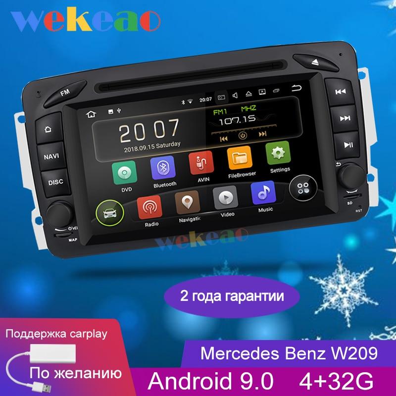 Wekeao écran large 7 ''lecteur multimédia de voiture Android 9.0 pour Mercedes Benz W209 CLK W203 W463 W208 Radio Automotivo 1998-2006