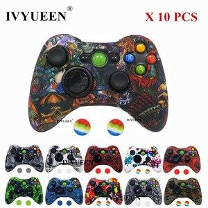 Image 1 - Ivyueen 10 Chiếc Ốp Bảo Vệ Da Cho Microsoft Xbox 360 Bộ Điều Khiển Ốp Lưng In Hình + Analog Ngón Cái Tay Cầm Joystick Nắp