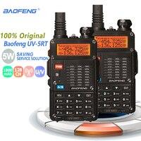 מכשיר הקשר 2pcs Baofeng UV-5RT מכשיר הקשר Dual Band UHF VHF רדיו FM תדר רדיו Ham Hf משדר Baofeng טוקי רדיו comunicador (1)