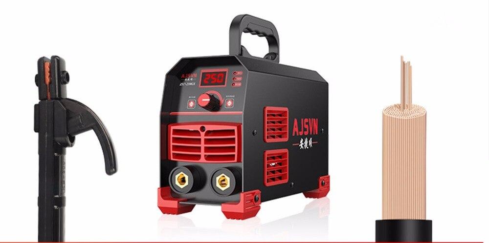 220V Регулируемый 20A-250A 4200W ручной IGBT инвертор дуговой сварочный аппарат цифровой дисплей мини портативный сварочный инструмент