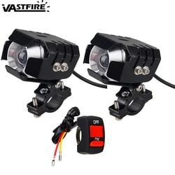 1 ou 2 pçs 1 modo de alta 12 v 24 v 20 w 3000lm 6500 k motocicleta led farol moto condução da lâmpada luz do ponto