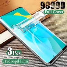 3 sztuk hydrożel Film do Samsung Galaxy A01 A10 A20 A30 A51 A71 5G A81 A10S A21S A20S ochraniacz ekranu dla A6 A8 Plus A7 Film 2018 tanie tanio UPZVJS FOLIA HD CN (pochodzenie)