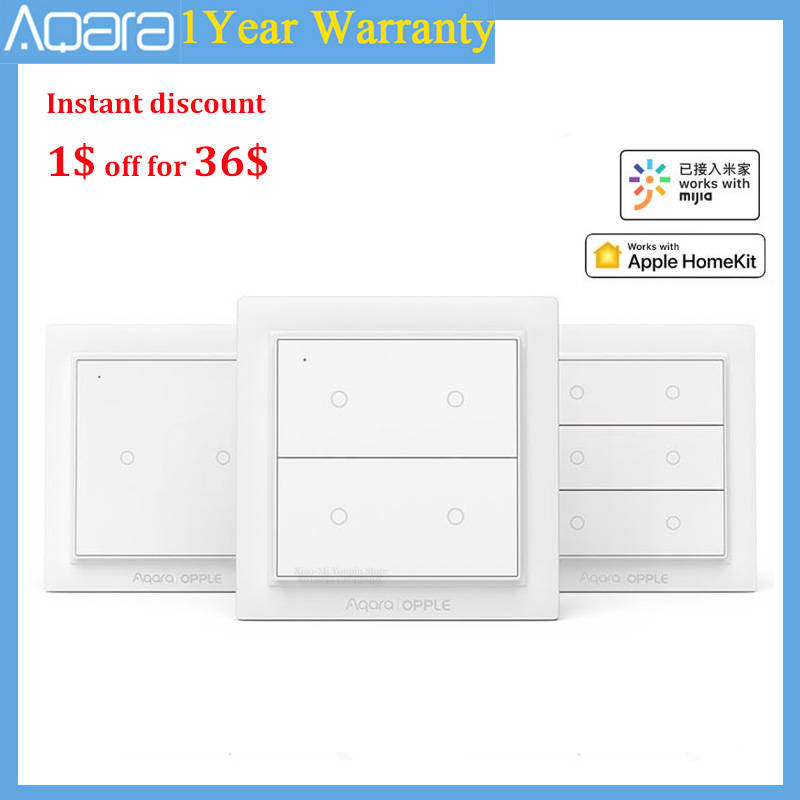 Smart-Switch Aqara Mijia App Apple Homekit Zigbee-3.0 Opple Wireless Original with Work