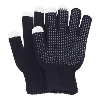 Unisex rękawiczki ciepłe zimowe dzianiny pełne rękawiczki dziewczyna kobiece stałe wełniane rękawiczki dotykowe rękawiczki szydełkowe rękawiczki Luvas tanie i dobre opinie ISHOWTIENDA Dla dorosłych WOMEN Poliester Nadgarstek Moda Gloves guantes fingerless gloves winter women modis Knitted Gloves